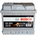 Аккумулятор автомобильный Bosch S5 6СТ-52R+(0092S50010)