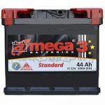 Аккумулятор для автомобиля A-mega Standart 6СТ-44R+