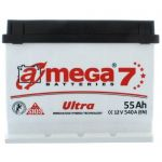 Аккумулятор для автомобиля A-mega Ultra 6СТ-55L+