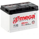 Аккумулятор для автомобиля A-mega Ultra Plus 6СТ-77R+
