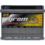 Аккумулятор для автомобиля Grom Premium 6СТ-65 R+