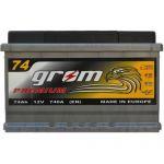 Аккумулятор для автомобиля Grom Premium 6СТ-74 R+