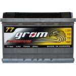 Аккумулятор для автомобиля Grom Premium 6СТ-77 R+