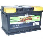 Аккумулятор для авто Hanza Platinum 6СТ-75R+