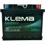 Автомобильный аккумулятор Klema 6СТ-50R+