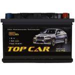 Аккумулятор для автомобиля Top Car 6СТ-80R+
