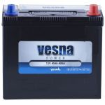 Аккумулятор для авто Vesna Power asia 6CT-45R+