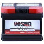 Аккумулятор для авто Vesna Premium 6CT-54R+