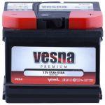 Аккумулятор для авто Vesna Premium 6CT-55R+